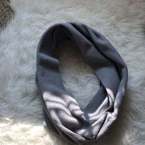 Grey fleece infinity scarf